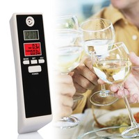 Safety Gadget Breathalyzer PFT661S Mini Digital Alcometer With Dual Lcd Alcohol 0.19%BAC