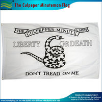 Quality polyester USA The Culpeper Minuteman Flag 3x5 ft / 90x150 cm