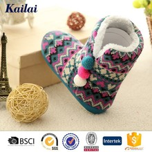 Fashion colorful winter lady star shoes