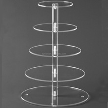 5 Tier Round Acrylic Cupcake Stand Multilayer Wedding Cake stand
