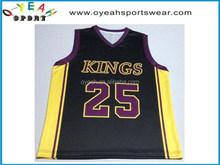 Super quality custom popular basketball tops