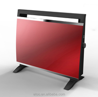 2015 NEW Design LED LCD Display Tempered Glass Ceramic Panel Heater Convector Glass Gas Heater