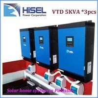 HiSEL Lcd 12v 24v 48v Dc 230v Ac 1000w - 5000w Solar Power Inverter solar panel system