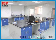 All steel chemical lab table with portable sink