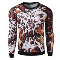 2015 New Fashion Men's European and American style pullover 3d printing M-XXL