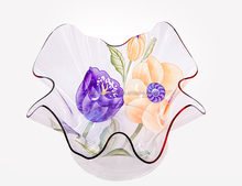 2015 fashional clear flower acrylic fruit plate,tray