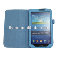 Flip folio lichi pattern Leather Case Cover for Samsung Galaxy Tab3 7.0 P3200 / P3210 / T210 / T211 & Stylus Pen & Screen Guard