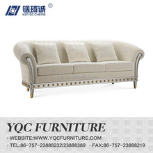 Y1280# hot sale Chinese style simple fabric sectional hotel arm sofa