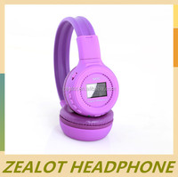 OEM headphone with colorful printed leather housing from China factory for promotion