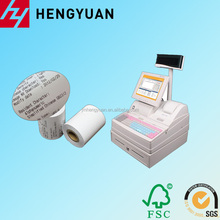 double coating 57*40MM thermal roll for ATM,credit card pos machine Image clearplastic core:13*17mm