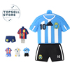 world cup argentina messi football cartoon character usb flash drive