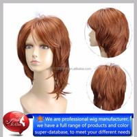 Not lace front non shiny top kanekalon synthetic hair wigs, wholesale myanmar hair