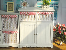 Multi-fonction cabinet new style shoes ark with hand-weaved boxes