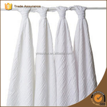 pure cotton baby muslin gauze blankets color pure white