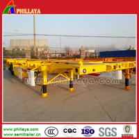 40FT Skeleton Container Transport Truck Trailer Chassis With Assemnbled Tyres