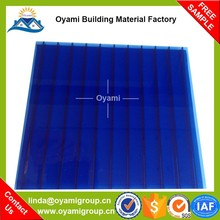 Building material colored greenhouses for mushroom polycarbonate sheet for project