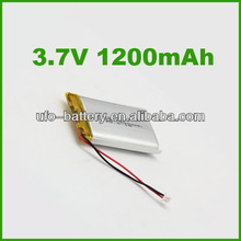 lp853048 lithium polymer battery 3.7v 1200mAh li ion battery pack with JST connector