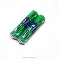 1.5V Midi-Max zinc-carbon AAA R03 um-4 alarm clock battery