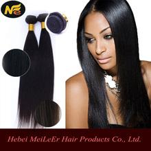 Alibaba China Brazilian Virgin Hair Extension 6A Straight Hair, 20 inch remy human hair weft, 100 virgin hair extension