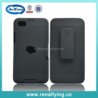 Factory price plastic belt clip case for Blackberry z30 with kick stand