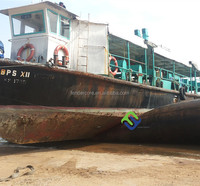 Fishing boat landing and launching rubber airbag exported to Batam Indonesia