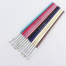 12 Pcs #1 UV Gel Nail Art Design Painting Pen Brush Set Nail Tips Tools