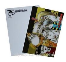 3D lenticular printing cute images of cartoon 3D postcard