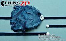 Top supplier factory wholesale fancy Flapper Headpiece Navy Blue Feather Headband