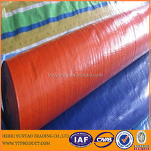 PE Tarpaulin Reinforced with PP Rope in Hem and Heat Sealed Edges