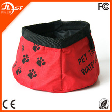 pet dog bowls portable folding nylon bowls food and water folded out