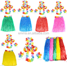 Fancy dress accessories ladies women hawaii straw skirt set for canival party festival beach with fashion style BWG-2104