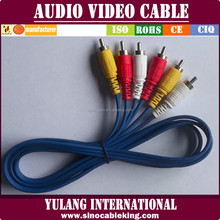 Blue Gold Pin Rca Audio/video Cable/lead/wire/line 2.8mm Od Top Dragon Brand