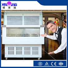 High quality hard ice cream gelato showcase GL-1200 for ice cream shop