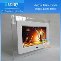 Acrylic frame fancy 7 digital photo frame