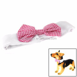 Cute lovely pet product Pet Dog Bow Tie with Velcro Backing