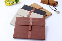 2015 Stylish Belt + Buckle Premium Smart flip case for ipad air 2 pu leather case china price