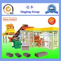 Easy operated QT4-15 cement hollow block making machine for small business