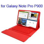 Flip Stand Silicone Leather Bluetooth Keyboard Case for Samsung Galaxy Note Pro 12.2 P900