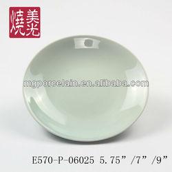 Celadon tableware&blue and white porcelain flat plate E570-P-06025
