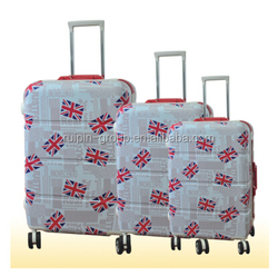 abs trolley luggage,colorful suitcase,made in zhejiang