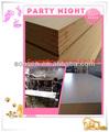 Precio rojo cereza madera CS-6008 Melamina MDF laminado de chapa de fábrica directa