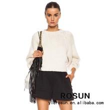 Mujeres con estilo suelta de punto suéter modelo para las damas