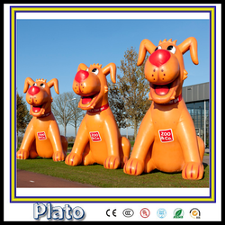 Newest design giant advertising inflatable lovely dog model on sale