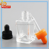 China glass dropper bottle 30ml rect vapor e juice bottles 30ml rectangle glass dropper bottle 30ml
