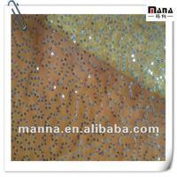 Elegant glitter sequins polyester emboridery mesh fabric