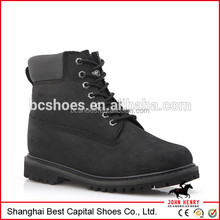 6 inchi Goodyear welted work shoes nubuck leather boots/ Dark leather boot for workers / Safety shoes