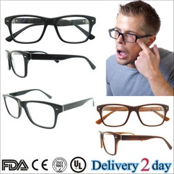 2015 latest fashion eyeglass frames for man Latest fashion eyeglasses black Europe men optical frames with acetate temples