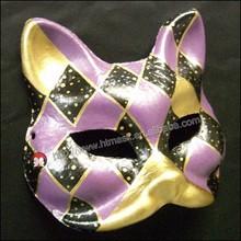 venetian mask purple cat Masquerade Cat Mask