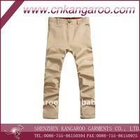 Mens' latest design 100% cotton poplin casual pants