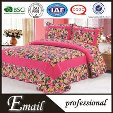 New design luxury modern 100%cotton floral bed sheet set/sets